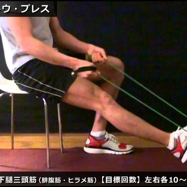 シーテッド・トゥ・プレス/ふくらはぎのチューブトレーニング【筋トレ動画】