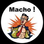 マッチョ!ステッカー(ビジネスマン風)の販売を開始しました!【Macho!ニュース】