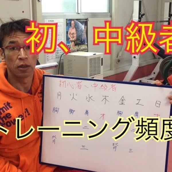 筋トレ初心者、中級者のトレーニング頻度の説明【筋トレ動画】