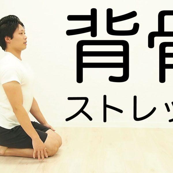 背中の柔軟性を高める背骨ストレッチ【 ストレッチ動画】