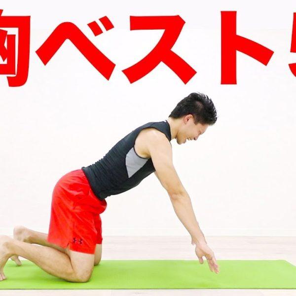 胸の自重筋トレ!おすすめベスト5を紹介します!【 トレーニング動画】