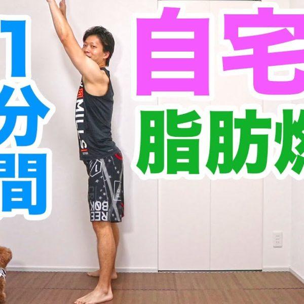 1分間自宅でゆっくりバーピー有酸素運動!【トレーニング動画】
