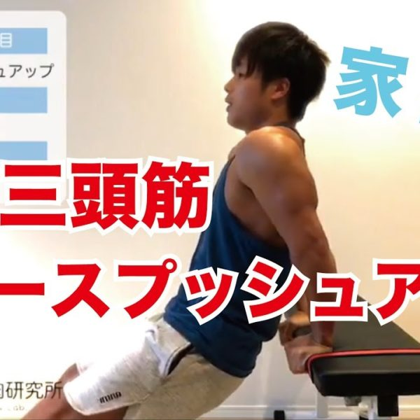 上腕三頭筋(リバースプッシュアップ)のトレーニングと解説【 トレーニング動画】