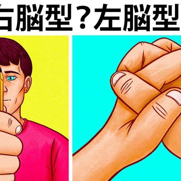 あなたは右脳型?それとも左脳型?簡単テスト!