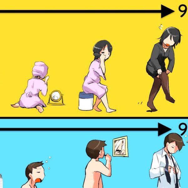 【衝撃】男女を的確に表した行動の違い8選