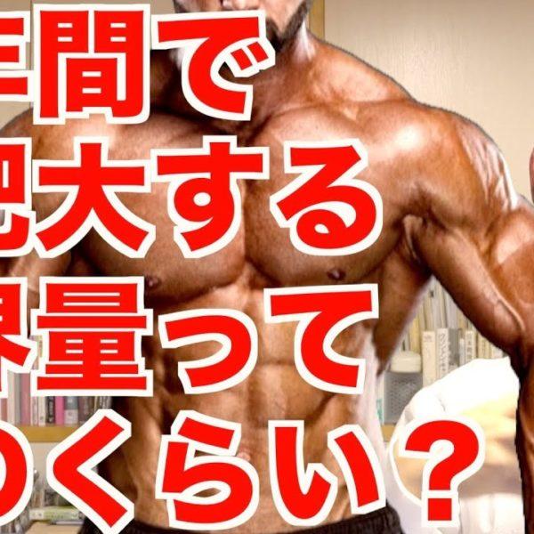 【筋肥大】1年で増える筋肉の限界量。