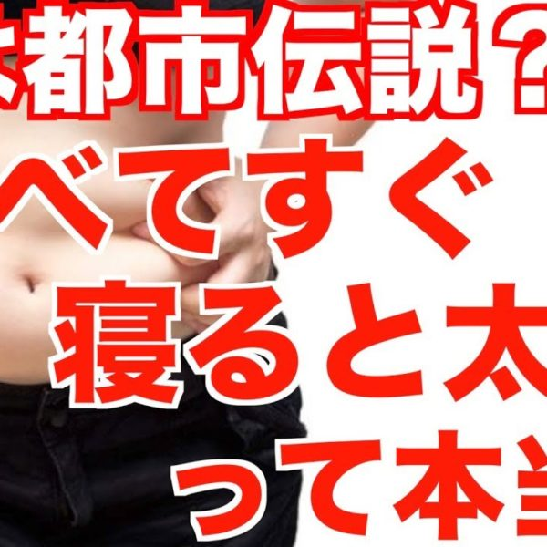 """""""食べてすぐ寝ると太る!!""""は【都市伝説!?】"""