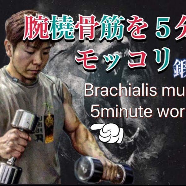 [前腕]腕橈骨筋を5分でモッコリ鍛える