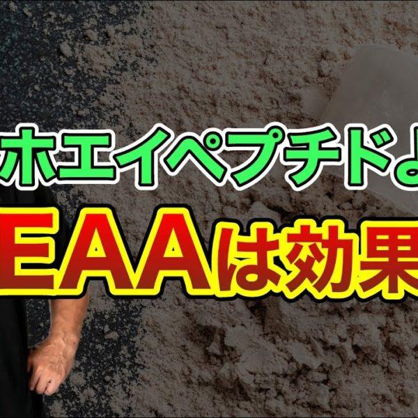 EAAとホエイペプチドを山本義徳氏が比較!